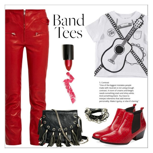 """""""Band T-Shirt"""" by amchavesj-1 ❤ liked on Polyvore featuring Isabel Marant, Renvy, GUESS by Marciano, Lime Crime and bandtees"""