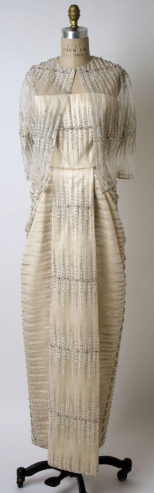1961 Dress, Evening  James Galanos  (American, born Philadelphia, Pennsylvania, 1924)
