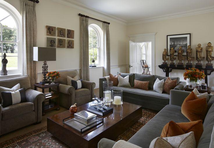 Interior designer portfolio by katharine pooley living rooms - Grey brown living room decor ideas ...
