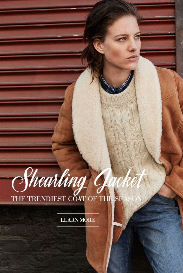 Interested in the trendiest jacket of the season? Then click on the link and learn more. Shearling is made of flawless lamb's wool and skin, carefully selected from the softest and highest quality pieces, making it both beautiful and extremely durable. It's also one of the warmest jackets out there with the cozy lamb's wool on the inside, and the soft suede surface (lamb's skin) worn out. A real Shearling Jacket is a classic statement piece that will last a lifetime.