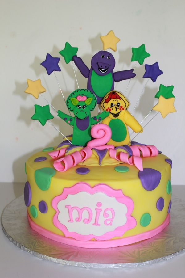 barney cakes   barney and friends barney cake for fabulous 2year old all hand made ...