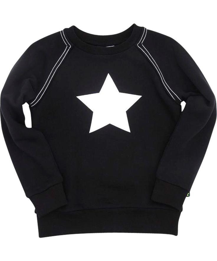 Magnifique sweat noir avec étoile blanche par Molo. molo.fr.emilea.be