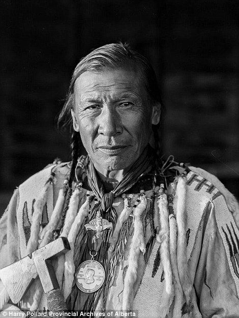 Stunning: Pollard got to know tribe members before taking the images so they would be at ease. Pictured is Chief Duck