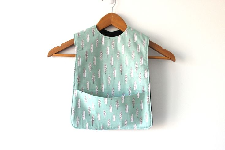 Green Feather Extra Long Bib