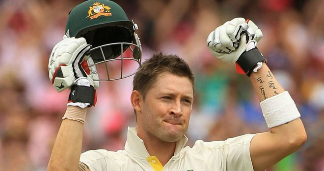 Michael Clarke 329 not out. Australia v India at the Sydney Cricket Ground in January 2012.