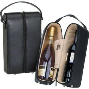 Bellino Leather Wine Case Black