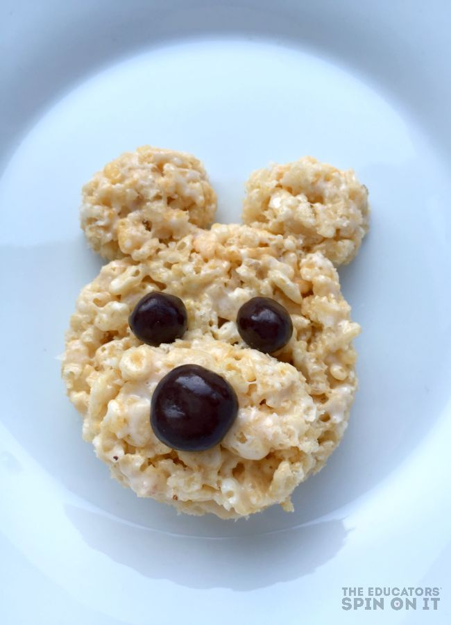 Hosting a teddy bear picnic with friends is a must in childhood. Here's how to make a teddy bear picnic dessert using rice cereal and marshmallows. We're sharing even more ideas to go with the book Corduroy too!