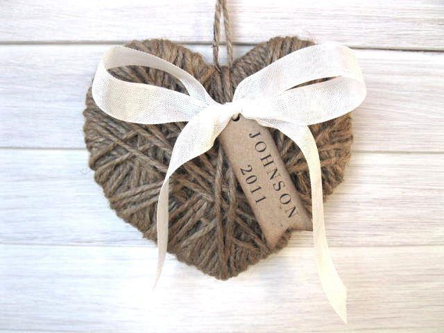 Twine Heart Ornament