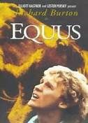 Equus (1977). [R] 137 mins. Starring: Richard Burton, Peter Firth, Jenny Agutter, Joan Plowright and Colin Blakely