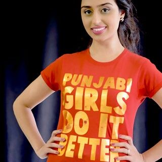 Punjabi Girls Do It Better. Gold foil on red. Loving this one.
