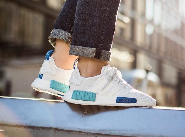 Image result for adidas nmd white blue glow