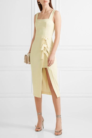 Pastel-yellow stretch-crepe Zip fastening along back 97% polyester, 3% elastane Dry clean Designer color: Butter