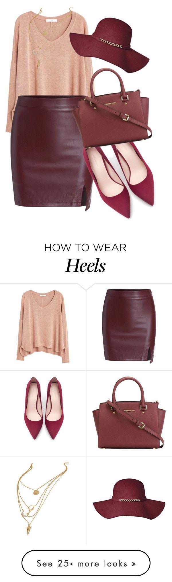 jersey rosa nuevo y zapatos granate con alguna falda.... negra plisada?
