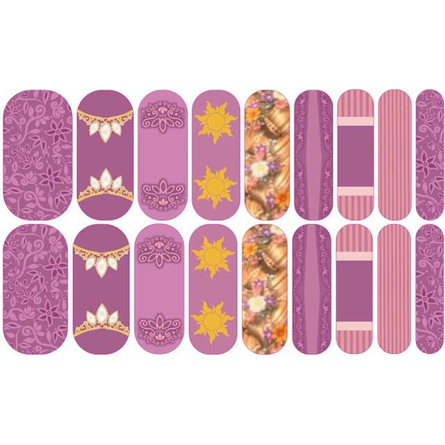 """I made more things! Icall these """"Lost Princess"""". Loving the Jamberry Nail Art…"""