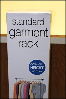 Make Your Own Photography Backdrop Stand. Use a standard garment rack and shower curtain rings