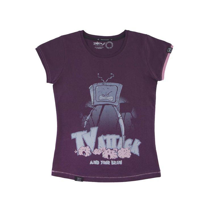 Camiseta Diseño TV Attack de ewikka en Etsy