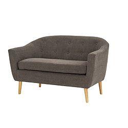 All Home Pedro 2 Seater Sofa - Graphite