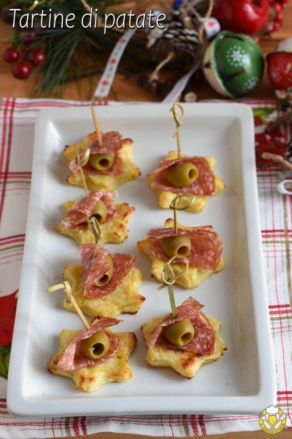 Antipasti Di Natale Con Patate.Tartine Di Patate A Stella Ricette Ricette Di Cucina Cibo