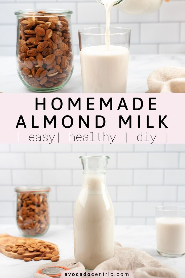 Learn how to make almond milk! So much better than store-bought. This homemade milk is dairy-free, vegan, healthy, easy,…