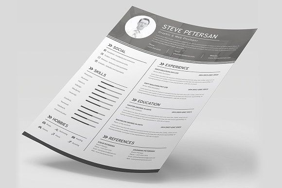 1000+ Ideas About Cv Resume Template On Pinterest