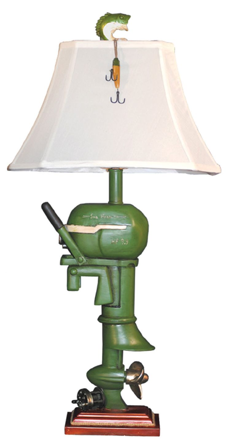 47 best toy boat motor images on pinterest boats motors and 1950s shop for your antique style boat motor table lamp geotapseo Image collections