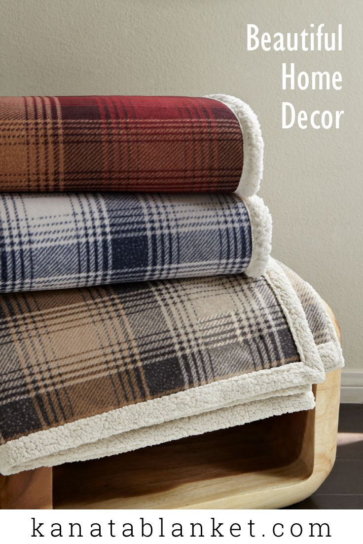 The Cottage Plaid Throw blanket will make you feel like you're away in the mountains.Super-soft polarfleecereversed with faux lambswool in vanilla. For more, follow us @kanatablanket