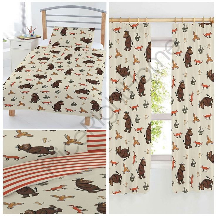 THE GRUFFALO KIDS DUVET COVERS IN SINGLE & JUNIOR + CHOICE OF CURTAINS FREE P+P in Home, Furniture & DIY, Children's Home & Furniture, Bedding   eBay!