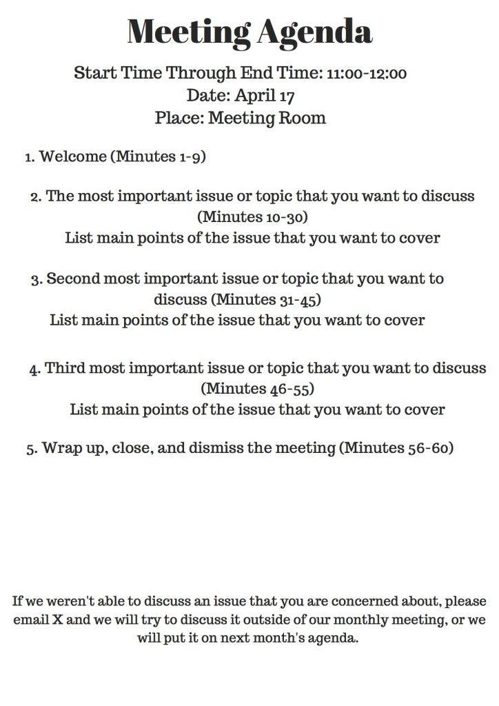 Steph Tanner | Nonprofit Meeting Agenda | http://stephtanner.com