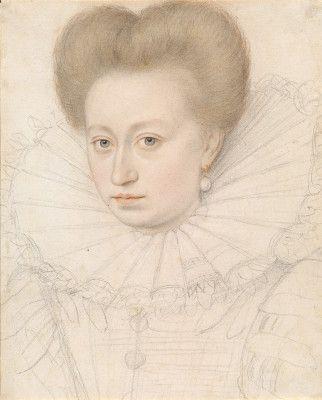 Quesnel, François French, 1543 - 1619 Portrait of a Noblewoman (Madame de Pellegars?)