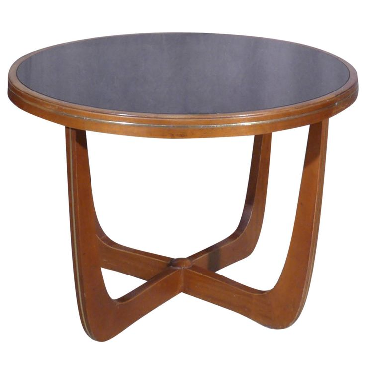 Italian Mahogany and Black Glass Side Table | From a unique collection of antique and modern coffee and cocktail tables at https://www.1stdibs.com/furniture/tables/coffee-tables-cocktail-tables/