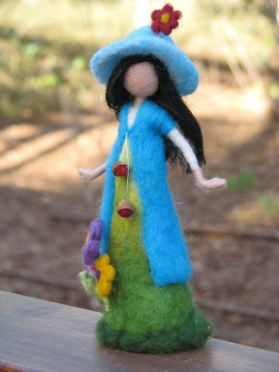 Needle felted waldorf inspired mother with by Made4uByMagic