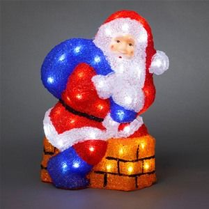 Konstsmide 6172-203 Acrylic LED Santa Climbing From A Chimney