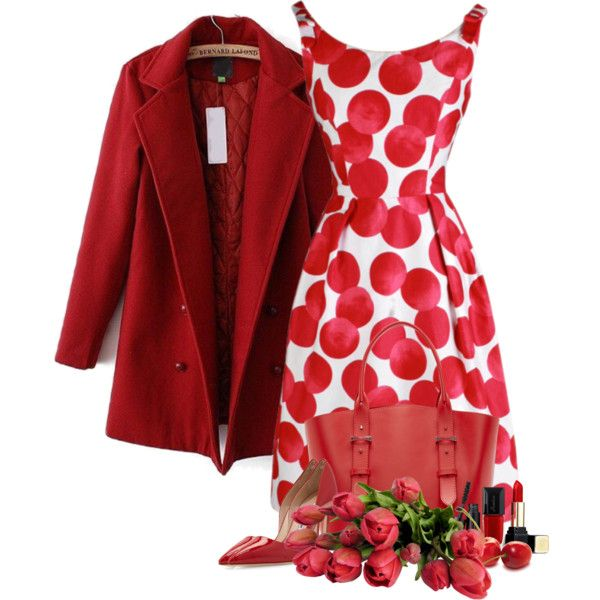 A fashion look from April 2015 featuring vintage dresses, double breasted coat and pointed-toe pumps. Browse and shop related looks.