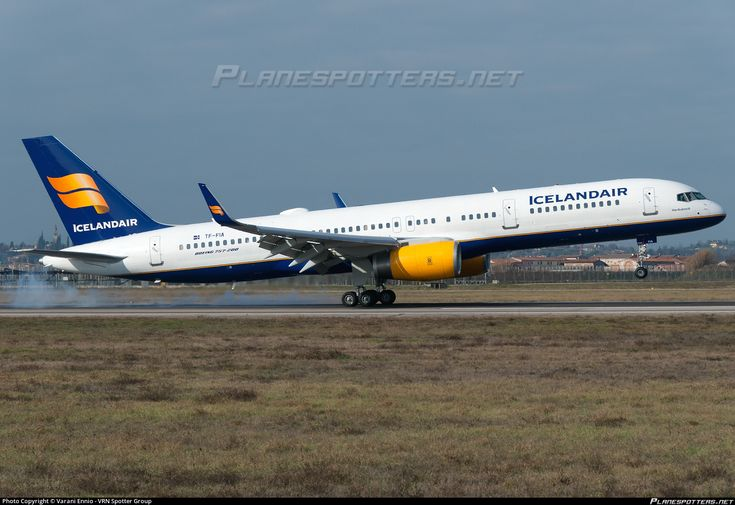 Icelandair Boeing 757-256(WL) TF-FIA aircraft, named ''Hedufreid-name of a volcano'' on short finals to Italy Verona Villafranca Valerio Catullo Airport. 06/02/2016.