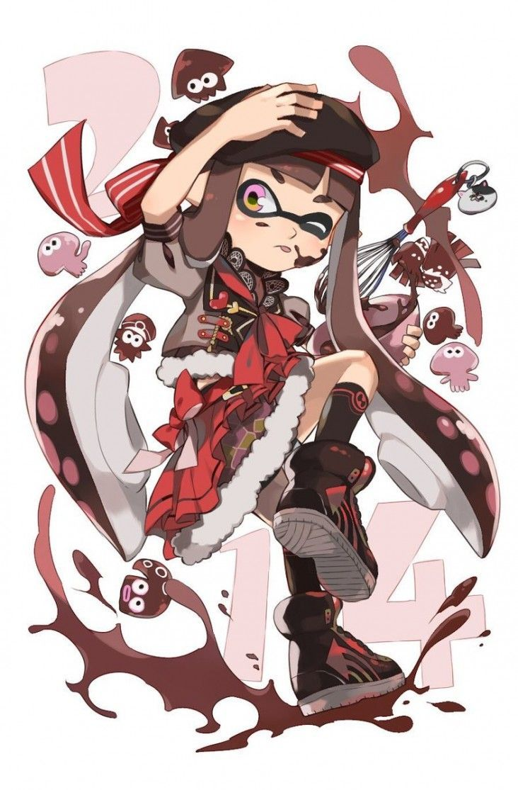 Dessins Splatoon X Saint Valentin Illustration Kawaii
