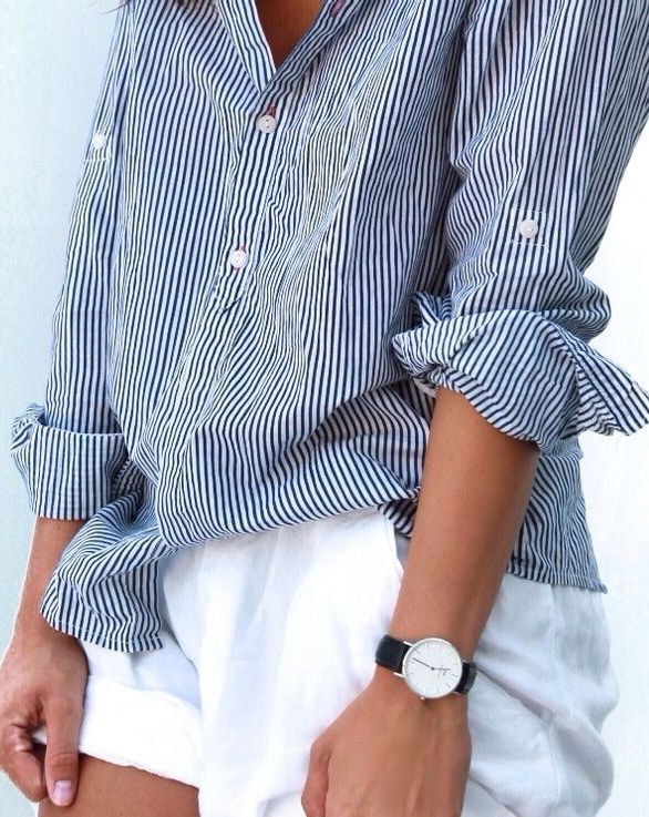 Striped linen shirts for casual Spring days.