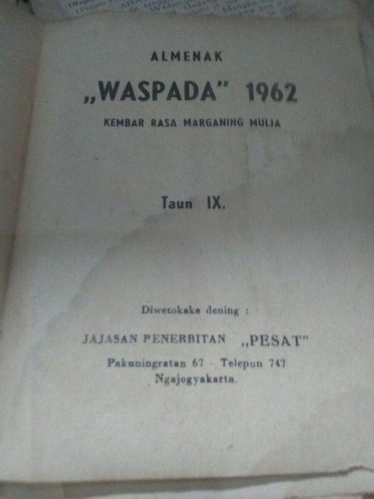 Waspada almenak thn 1962