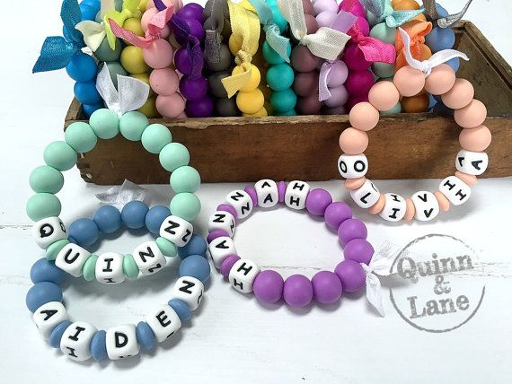 Custom PERSONALIZED Silicone Teething Ring  Baby Toy