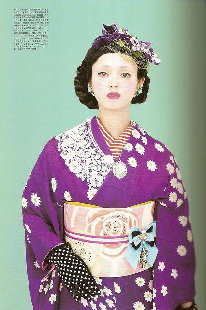 Kimono-hime issue 9. Fashion shoot page 5 by Satomi Grim, via Flickr
