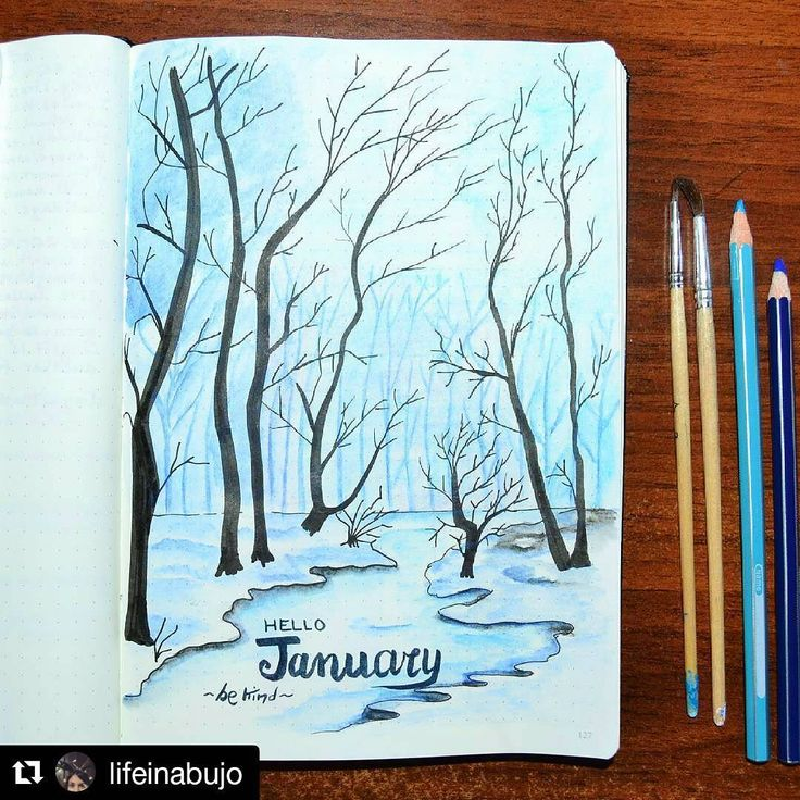 I've been waiting for days to post this January page on New Year's! Happy New Year to all. Beautiful job, @lifeinabujo . . #Repost @lifeinabujo with @repostapp ・・・ Good morning bujo-friends! It will be January in a few days and I'm setting everything for the new month. The trees are came back. I always dream about living near a forest and I hope one day I could do. I love drawing animals and cute doodles but sometimes I need to express my deepest feelings and these last few days I felt very…