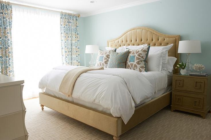 58 best images about coastal bedrooms on pinterest upholstered beds transitional bedroom and - Beige and blue bedroom ideas ...