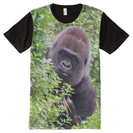 Peek-A-Boo Gorilla T-Shirt - tap, personalize, buy right now!