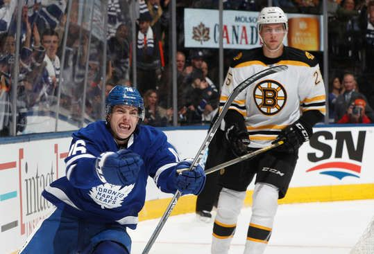 I'm not a Leafs fan at all, but you had to love Mitch Marner's celebration when he scored his 1st NHL goal!
