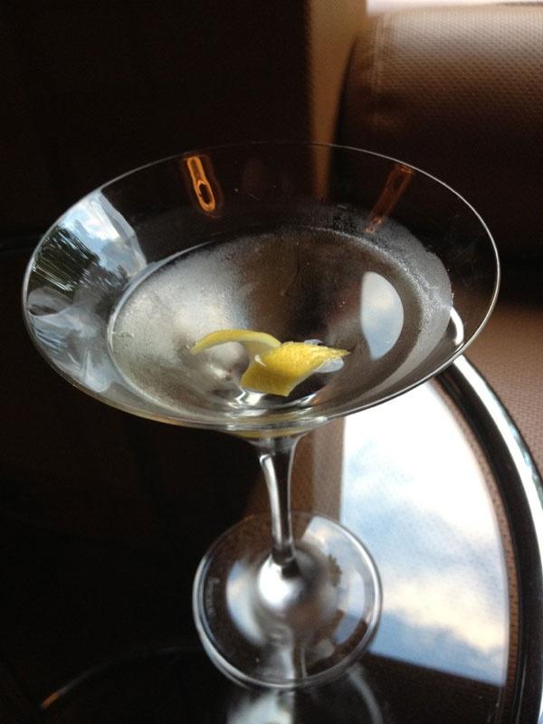 a cool martini at Aria Restaurant and Bar  Circular Quay Sydney