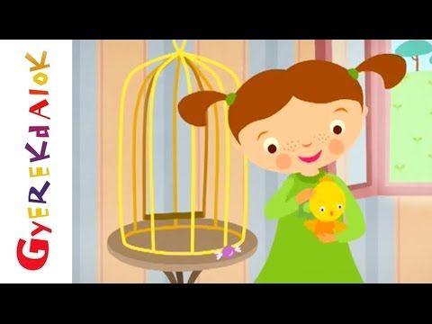 Az árgyélus kismadár... (gyerekdal, rajzfilm gyerekeknek) - YouTube