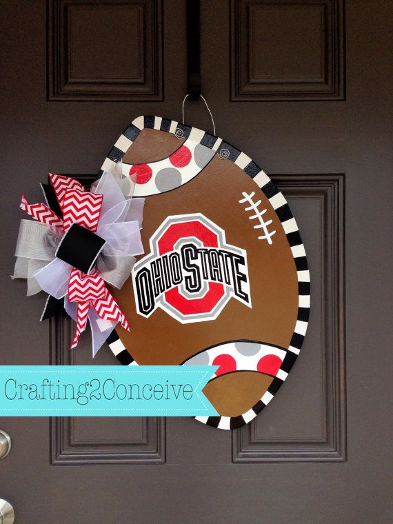 OHIO STATE FOOTBALL Door Hanger by Crafting2Conceive on Etsy