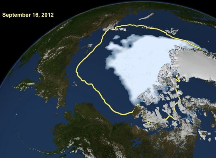 Arctic sea ice at record low