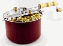 Whirly Pop popcorn popper - seriously the best popcorn popper. Our favorite is the lightly sweet/glazed recipe!