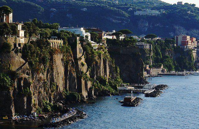 Sorrento's coastal cliffs (Italy)