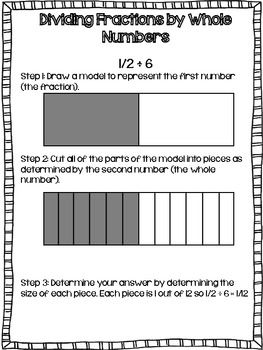 Posters That Show Step By Step How To Model Multiplying And Dividing  Posters That Show Step By Step How To Model Multiplying And Dividing  Fractions With Rectangle Models And  Th Grade Math Resources  Common  Core Math